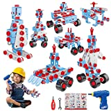 HONYAT 247pcs 7-in-1 STEM Toys Robot Building Kit, Electric Drill Puzzle Building Set with Storage Box, Educational Construction Building Blocks Set - Gift for Preschool Kids, Boys and Girls Age 5-12