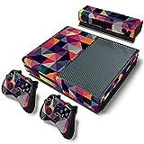 AXDNH Xbox One Juego Completo De Pegatinas De Piel De PVC para Consola Y 2 Controladores Película Protectora De Piel - Patrón Cuadrado Colorido,0143