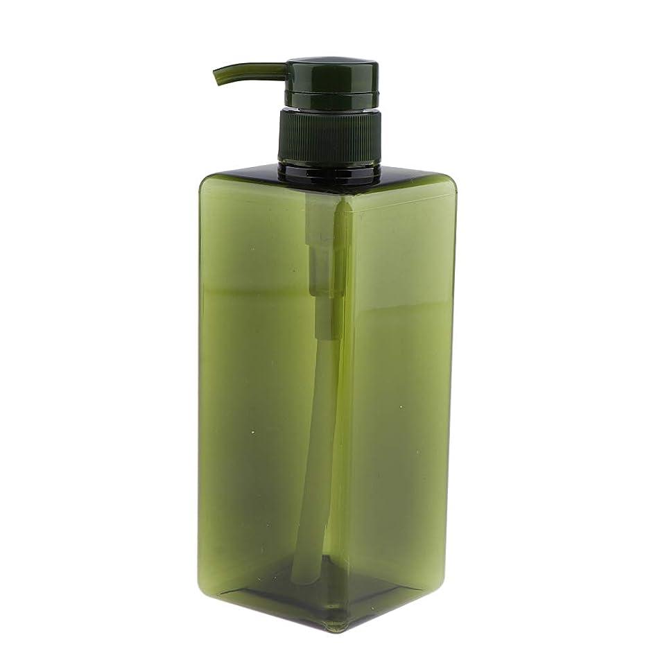 スポーツをするアクセスできない重力IPOTCH シャンプーコンテナ ポンプボトル 大容量 650ml 4色選べ - グリーン