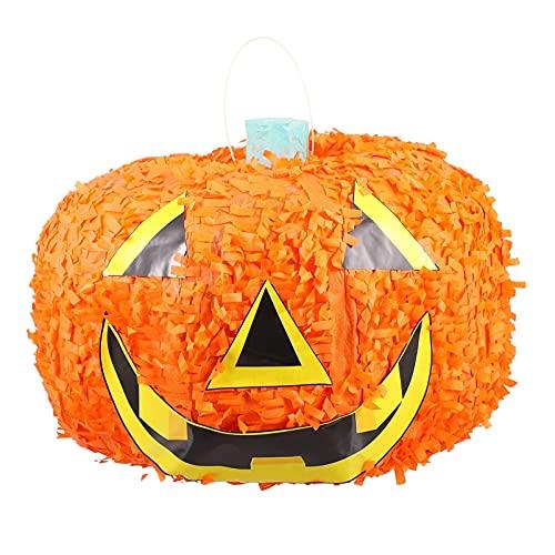 Tomaibaby Calabaza de Halloween de Papel Piñata de Juguete para Niños Piñata de Juguete Relleno de Azúcar para Acción de Gracias Fiesta de Cumpleaños Favor Cinco de Mayo Decoraciones