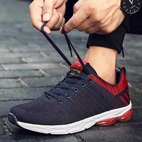 ZapatillasRunningpara Hombre Aire Libre y Deporte Transpirables Casual Zapatos Gimnasio Correr Sneakers Azul 41
