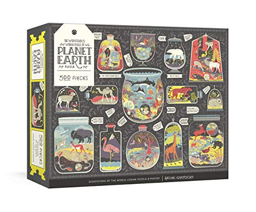 Wondrous Workings of Planet Earth Puzzle: Ecosystems of the World 500-Piece Jigsaw Puzzle and Poster : Jigsaw Puzzles for Adults and Jigsaw Puzzles for Kids