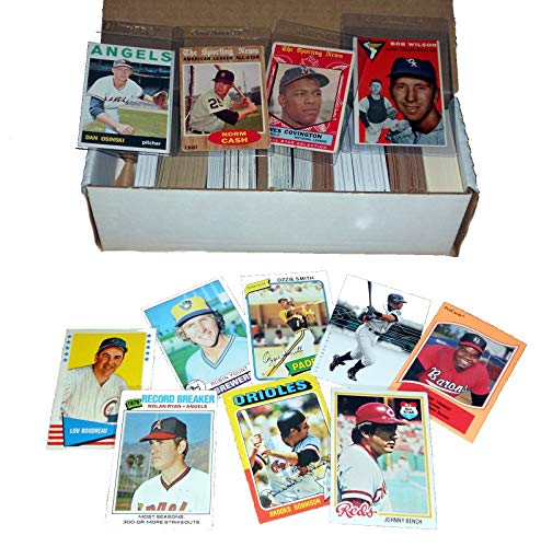 Baseball Card Starter Set 500 Cards Incl. 1950s-60s-70s-80s Book Value of...