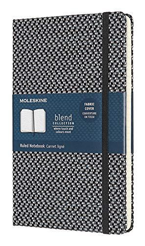 Moleskine - Klassisches Liniertes Notizbuch - Blend Kollektion - Hardcover mit Elastischem Verschlussband - Farbe Grün - Größe A3 13 x 21 - 240 Seiten