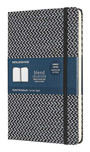Moleskine Limited Collection Blend Textile Notebook, Hard Cover, Large (5'...
