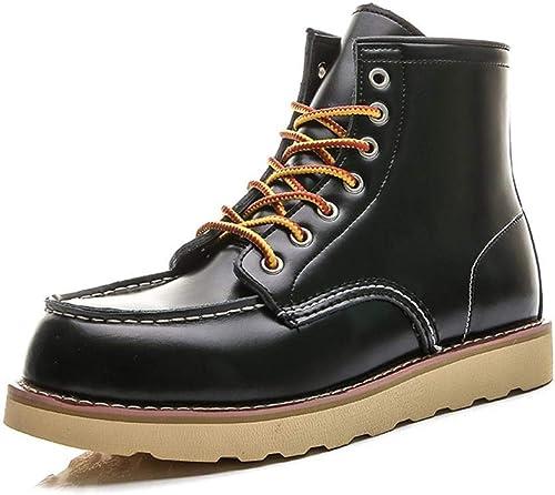 botas Militares del Desierto botas de Herramientas de Viento britáNiño Zapaños Superiores Altos botas Martin de Cuero for Hombre .Zapaños de Moda