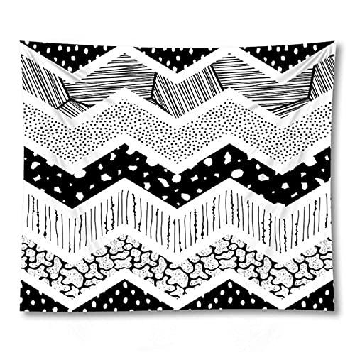 Tapiz by BD-Boombdl Manta de onda geométrica Bohemia Tapiz de pared Mantel de playa Estera de yoga Decoración del hogar 59.05'x78.74'Inch(150x200 Cm)