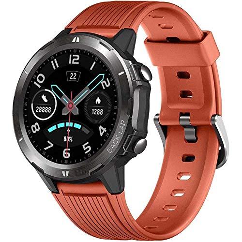FDRYO Smartwatch, Reloj Inteligente con 1.3' Pantalla Táctil Completa, Pulsera Actividad Inteligente Hombre Mujer 5ATM Impermeable Reloj Deportivo con Cronómetro Pulsómetro para Android y iOS-C