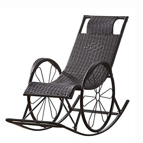 Decoración de muebles Silla perezosa Mecedora Sillón reclinable chino Hogar moderno Ocio para...