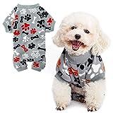 PUPTECK Soft Polar Fleece Dog Pajamas - Adorable Puppy Clothes...