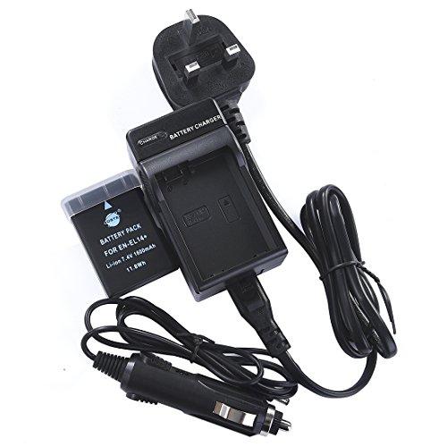 DSTE - Batería recargable de litio-ión EN-EL14 y cargador DC111U para cámaras Nikon Coolpix P7000, P7100, P7700, Df, D3100, D3200, D5100, D5200 y D5300