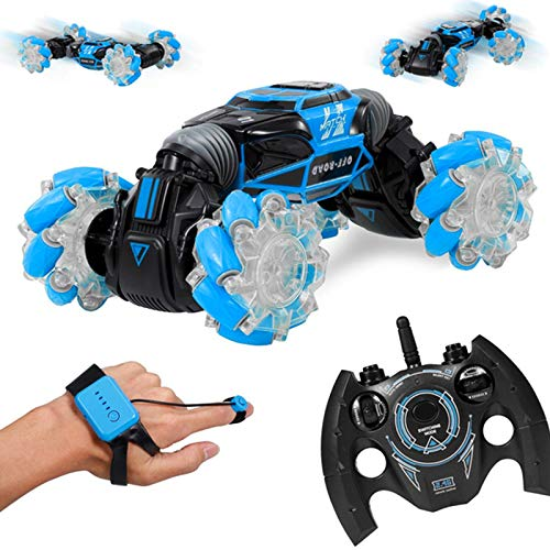 Shop-Story – Twister Car Blue – Coche eléctrico controlado por detección inteligente de movimiento de la mano