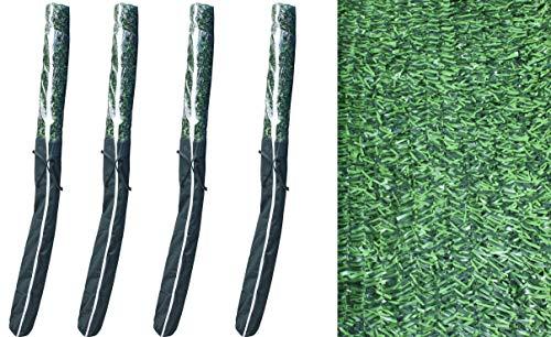 Pal Ferretería Industrial Rollo de seto Artificial ignífugo Verde de ocultación 3x2m (4- Rollos seto 3x2m)