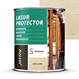 LASUR PROTECTOR SATINADO.(7 COLORES), Protege, decora y embellece todo tipo de madera (750 ml, INCOLORO)