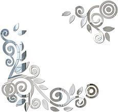 YWLINK 2PC / 1Set 3D DIY Forma De La Flor De AcríLico