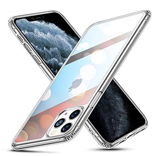ESR Funda iPhone 11 Pro, Carcasa Protectora de Cristal Templado con Tapa Trasera, Dureza 9H, Marco de TPU Flexible para Choques, Absorción de Golpes para iPhone 11 Pro (2019) 5,8, Transparent.