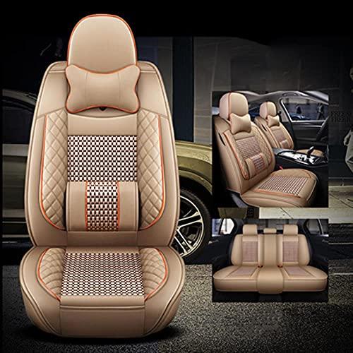 Coprisedili Auto Universale per Opel Zafira Tourer Astra K Insignia 2014 Meriva B Vectra C Mokka Coprisedile Auto Accessori, Beige di lusso