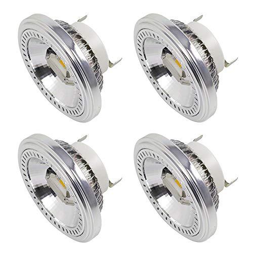 MENGS 4-er Pack G53 AR111 LED Strahler 2x COB 15W LED Leuchtmittel Ersatz für 120W Halogenlampen Neutralweiß 4000K AC 85-265V