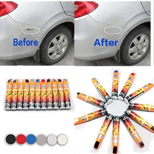 Yukio Baumarkt – 6 Farbe Auto Lack-Reparaturstift Scratch Repair Pen Dedicated Multi Color Auto Lackstift (Schwarz)