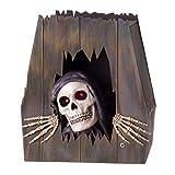 Ataúd Esqueleto con luz, Sonido y Movimiento para Halloween de Goma eva de 39x19x43 cm - LOLAhome