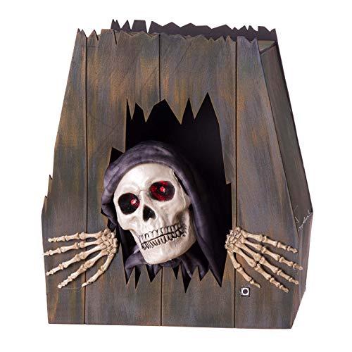 Ataúd Esqueleto con luz, Sonido y Movimiento de Halloween de Goma eva de...