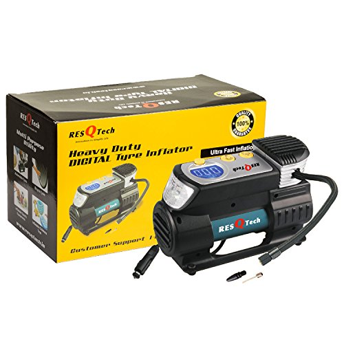 ResQTech Heavy Duty Digital Tyre Inflator (New and Improved Version, 2 Years Warranty)