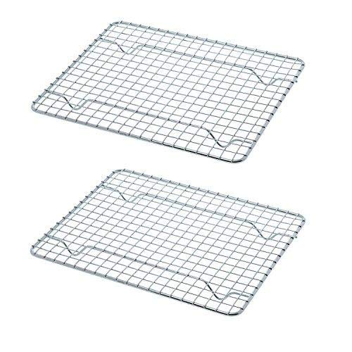Great Credentials Heavy-Duty Cooling Rack, Cooling Racks, Wire Pan Grade, Commercial Grade, Oven-Safe, Chrome (8 x 10 Inch)