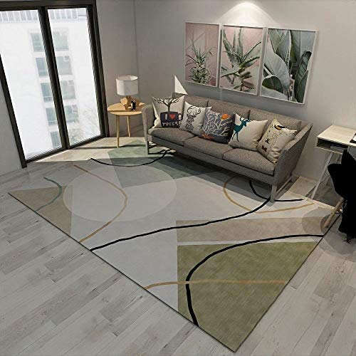 DLSM Modern fashion simple line triangle pattern mosaic geometric carpet office sofa coffee table living room bedroom kitchen decorative carpet-80x160cm