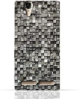 Sony Xperia T2 Ultra TPU Silicone Case with Old Cube Black Wood Texture