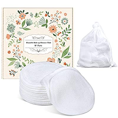 Lip Makeup Remover Pads, Reusable Cotton Rounds Organic Cotton Pads Face
