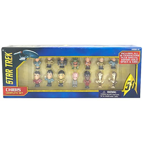 Chibis Star Trek 50th Anniversary Complete Mini Collectible Figure Set