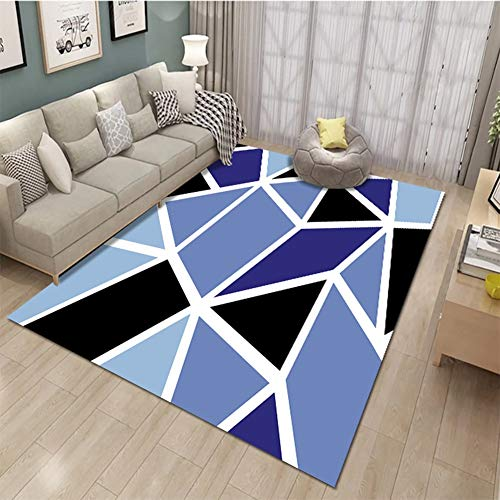 Simple Art Carpet for High-end Dining Room Corridor Sofa, Home Living Room Study Bedroom Non-Slip Easy to Clean Carpet (Color : D, Size : 2.6'x3.9')