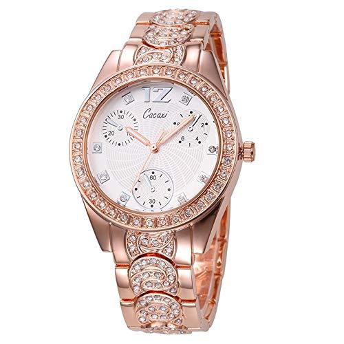 PLKNVT Neue Hochwertige Marke Dekorative DREI Augen Frauen Mode Hohe Qualität Armbanduhr Weibliche Analoganzeige Weiß Uhren Uhr RelojRose Gold