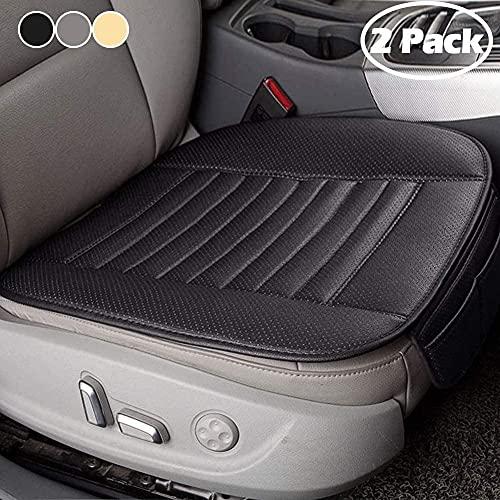 Big Ant(ビッグアント)車用シートクッション 通気性クッション PUレザーシートカバー 低反発 座布団 マット 運転席&助手席 ストッパー付 収納ポケット付き 2個セット