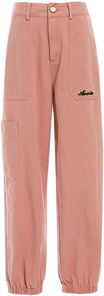 Max 53% OFF Summer NEW before selling High Waist Loose Adjustable Pants Cargo Mul Opening Ankle