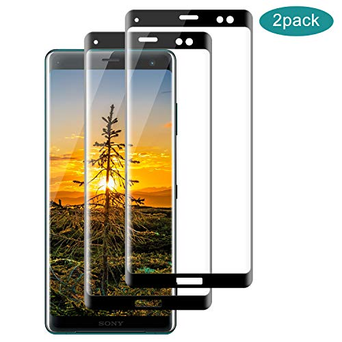 SNUNGPHIR® Cristal Templado para Sony Xperia XZ3 [2 Pack] [Cubierta Completa] [Alta Definición] Protector Pantalla de Vidrio Templado para Sony Xperia XZ3, 3D Touch Anti-Arañazos