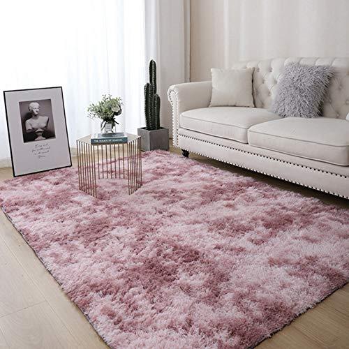 AMZERO Alfombra de Diseño Alfombras en IKEA Alfombra Cocina Pelo Largo Fluffy Alfombra para Dormitorio, Comedor, Pasillo y habitación Infantil, Pelo Largo, Rosa púrpura 160x220cm