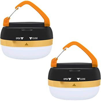2 Pack Portable LED Tactical Camping Lantern,Ultra Bright Outdoor Tent Lantern with Retractable Hook and 5 Modes,Water resistant,Best for Camping,Tent,Emergency