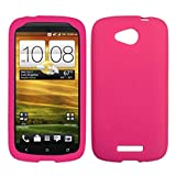 Asmyna HTCONEVXCASKSO008 Slim and Soft Durable Protective Case for HTC One VX - 1 Pack - Retail Packaging - Hot Pink