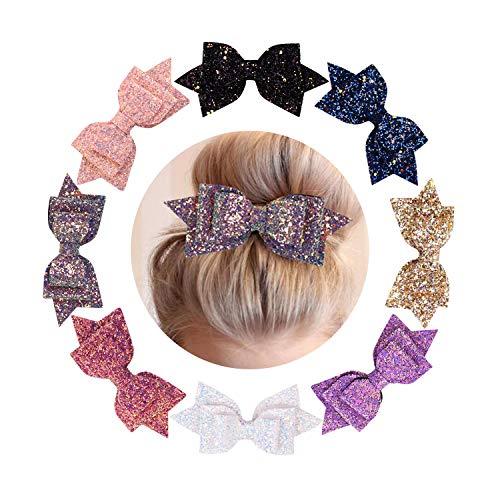 De feuilles Lot de 8 Pince à Cheveux Nœud Princesse Déguisement Clips Cheveux Pour Fille Enfant Fillette (Taille Unique, Lot de 8)