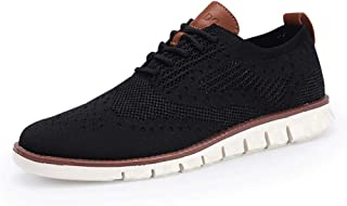 Men's Mesh Wingtip Oxford Breathable Sneakers Casual Lightweight Lace Up Walking Shoes