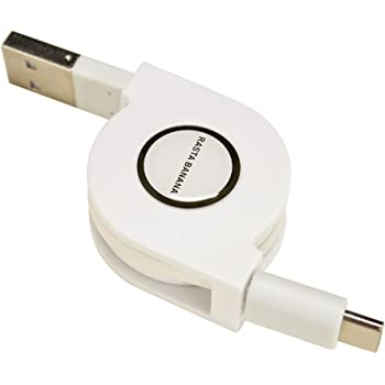 ラスタバナナ スマートフォン用 充電器 USB充電・通信ケーブル Type-C USB2.0 リールタイプ 80cm ホワイト タイプC RBHE251