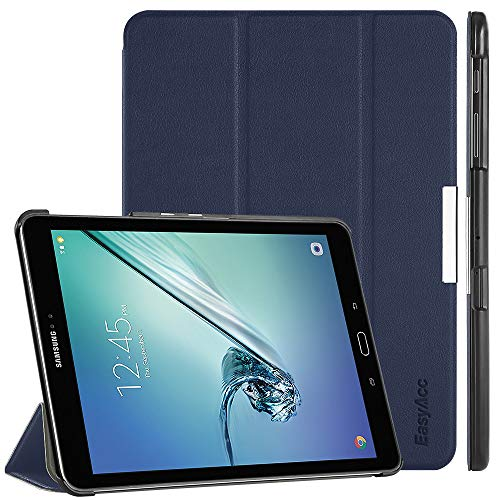EasyAcc Hülle für Samsung Galaxy Tab S2 9.7, Smart Cover mit Standfunktion Auto Wake Up Sleep PU Leder Hüllen Kompatibel für Samsung Galaxy Tab S2 9.7 Zoll (T810/ T813/ T815/ T819), Dunkelblau
