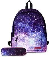 FANDARE School Backpack Galaxy School Bag Boys Girls Backpacks School Bag with Pencil Case Teenager Backpack Daypack...