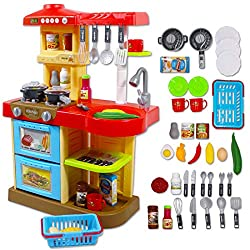 THE PERFECT KITCHEN PLAYSET FOR BEGINNERS: My Little Chef Kitchen Play set is perfect for your child's first kitchen! This play set includes a variety of accessories that include; play cutlery, play food and even play kitchen appliances. FEATURES: Th...