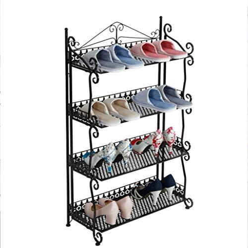 XBDD Rack de Zapatos Moderno Europeo DE Hierro DE Iron Fuerza DE ZAPACIONES DE 4 CAMBIAS DE Almacenamiento DE Almacenamiento Los estantes de Almacenamiento sostienen hasta 15 Pares de Zapatos 60 * 30