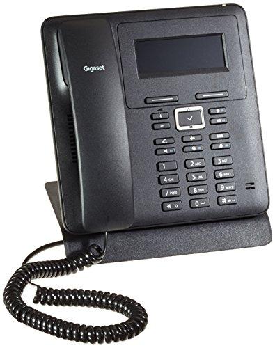 Gigaset Pro Maxwell Basic Desktop Phone - Büro Telefon mit einfacher Bedienung und Full HD Audioqualität - Schnelle Verbindung mit PC, Laptop und Drucker - Schnurgebundenes Telefon, schwarz