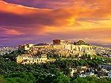 DFGJ Puzzle Acrópolis con Partenón de Atenas 2000 Piezas (105 * 75 cm)