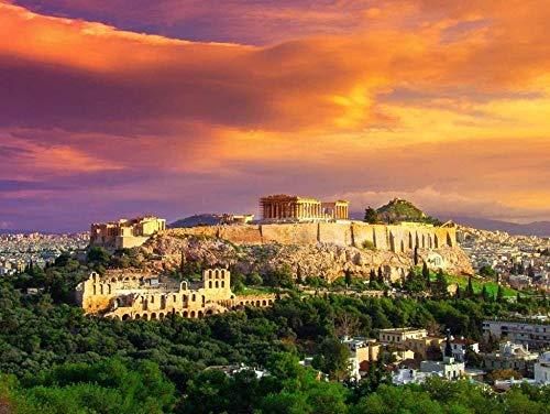 DFGJ Puzzle Acrópolis con Partenón de Atenas 4000 Piezas (148 * 105 cm)