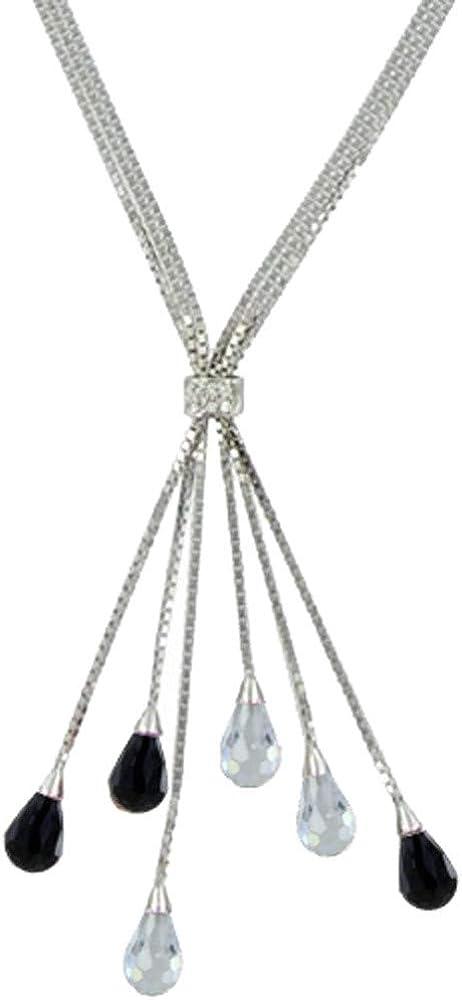 Les Poulettes Jewels - Silver Necklace Quantity Detroit Mall limited 6 Drops of and Zirconium